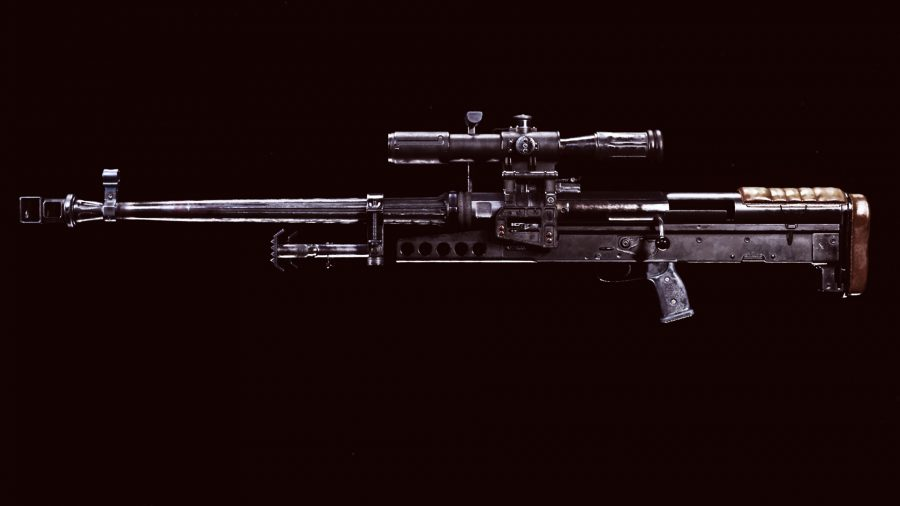 A close up of the ZRG 20mm sniper rifle in Call of Duty Warzone