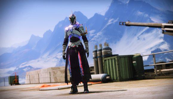 A Warlock using the Transmog system