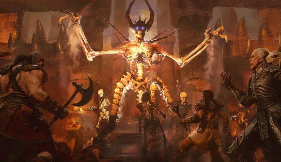 Mephisto takes on several Diablo 2 heroes