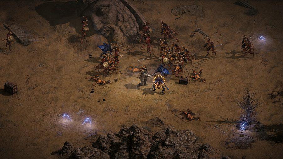 Diablo 2 players do battle in the desert