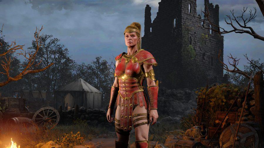 Amazon class on the menu screen in Diablo 2 Resurrected
