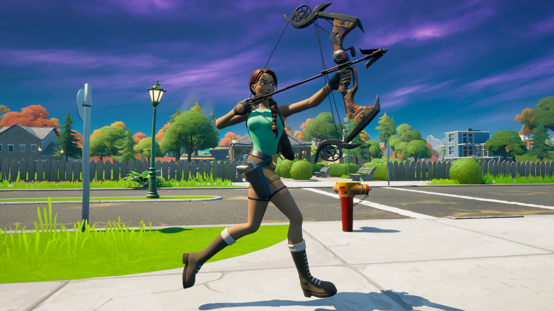 Where is Lara Croft in Fortnite – grappler bow location