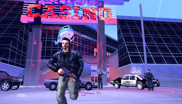 GTA 3's protagonist running from the cops