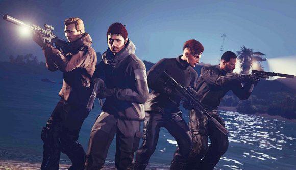 A GTA Online heist crew take on the Cayo Percio heist