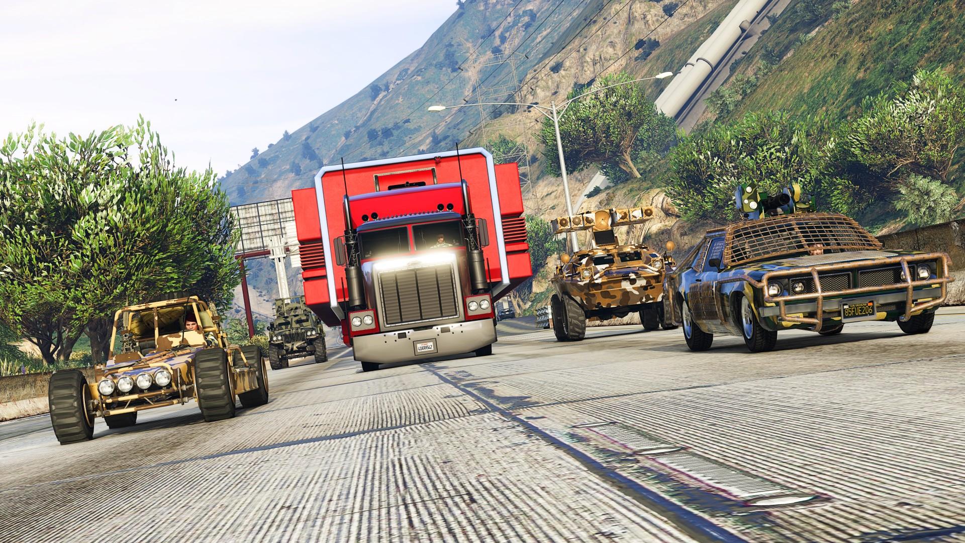 GTA Online's weekly update doubles rewards on hauling Bunker stock