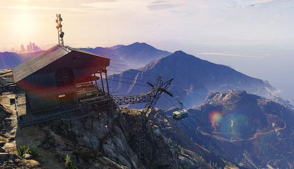 A popular parachuting location in Los Santos in GTA Online