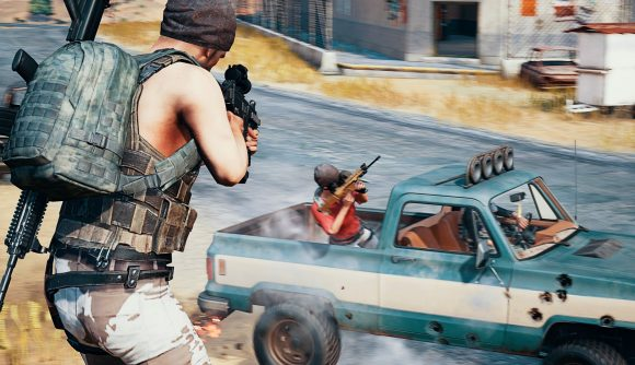 A PUBG player opens fire at a vehicle