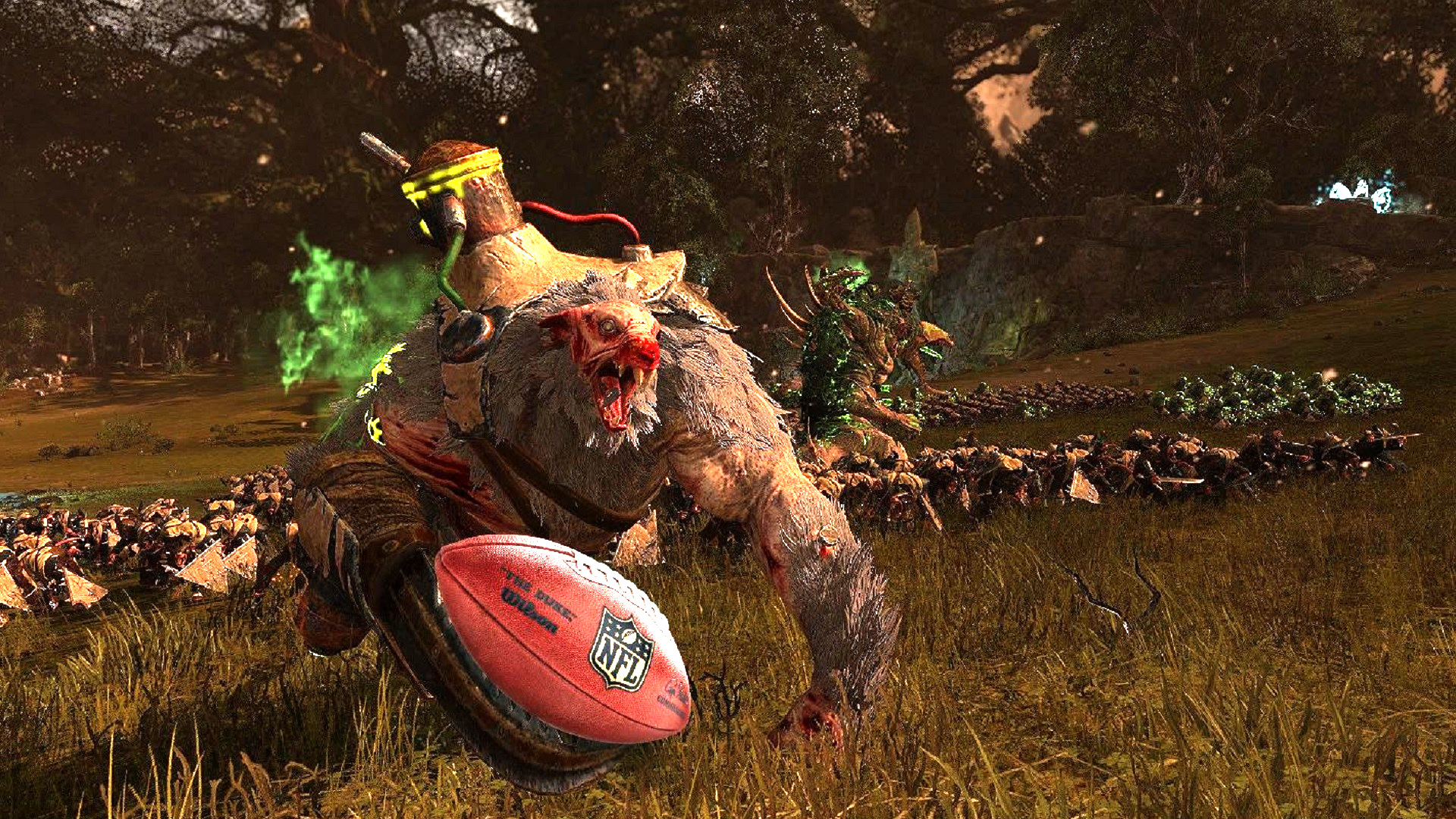Warhammer 3 should settle fights with games of Blood Bowl