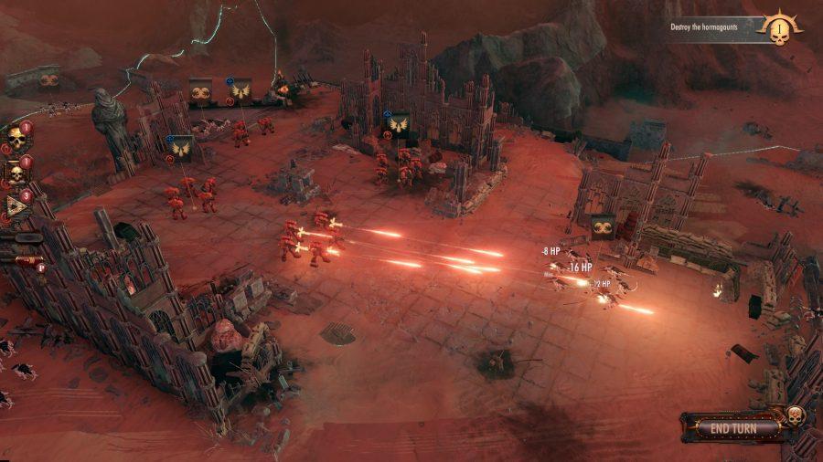 Warhammer 40000 battlesector blood angel units fire on tyranids