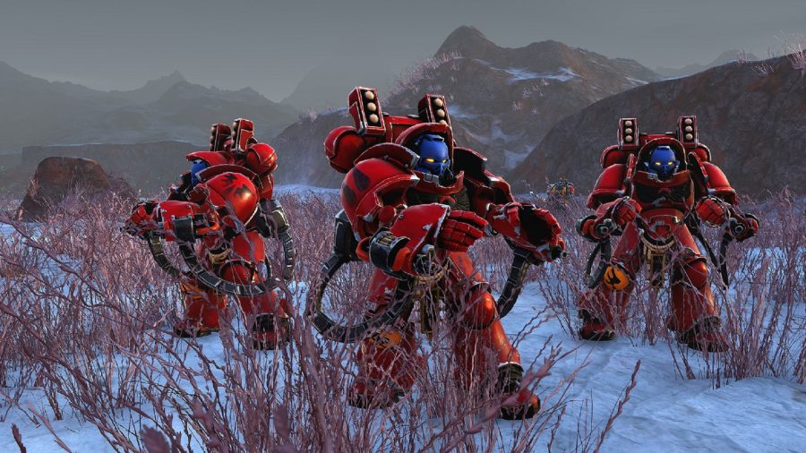 Aggressor units in warhammer 40000 battlesector