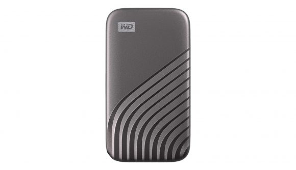 WD's grey-coloured compact portable SSD