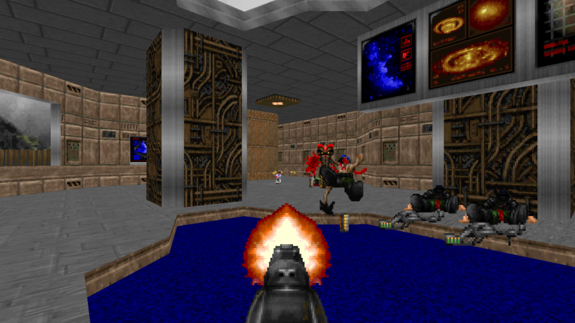 Doom is literally playing in this article