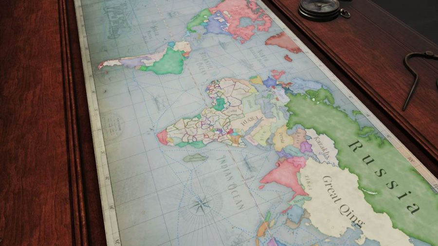 grand strategy game Victoria 3's world map