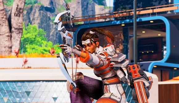 Apex Legends' Rampart using the new bow