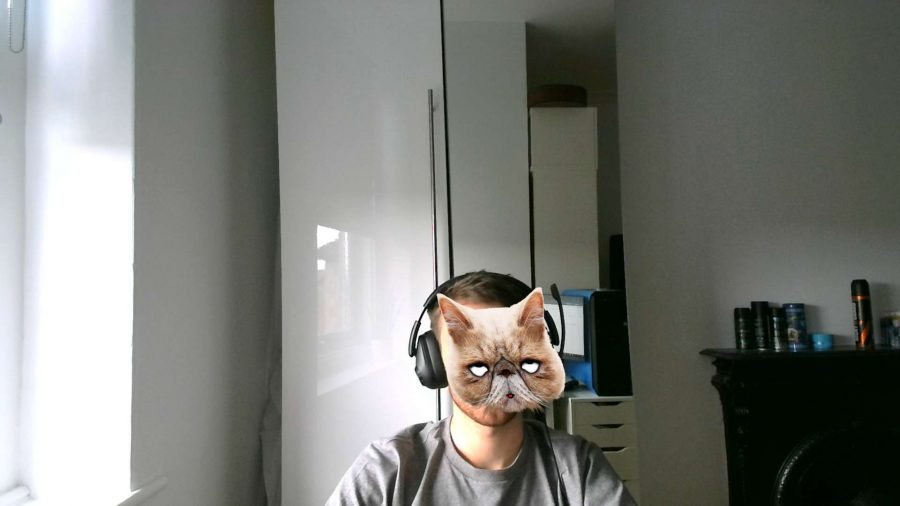 Gimmicky cat filter enabled on Avermedia PW315 camera