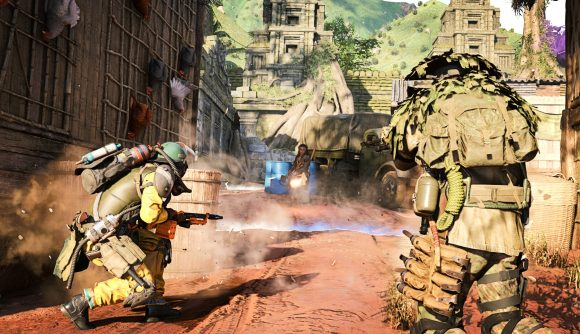 Two Call of Duty: Cold War players taking on John Rambo