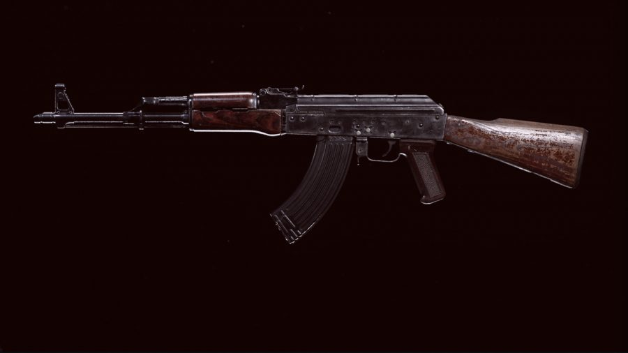 The Cold War AK-47 in Call of Duty: Warzone's preview menu