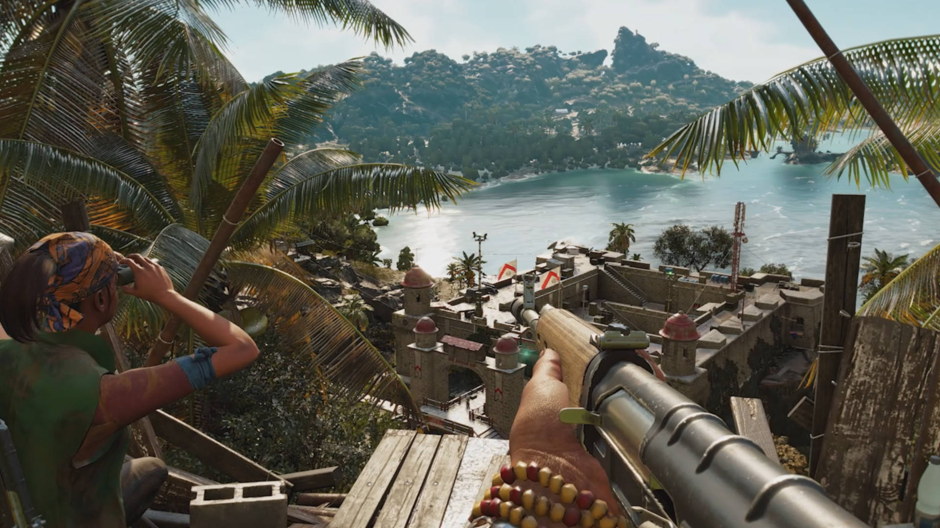 In Far Cry 6 a wheelchair-bound dachshund bites people in the balls