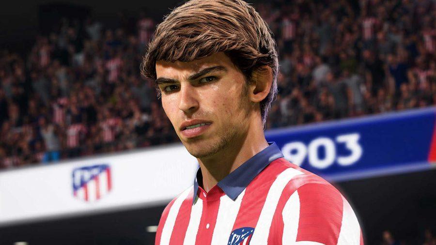 Atletico Madrid's Joao Felix looks into the distance