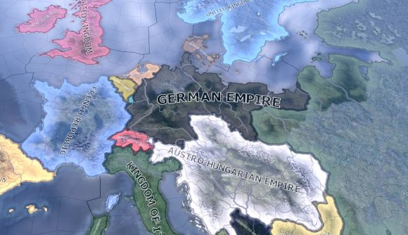 the world map of hearts of iron 4 from the coming storm mod