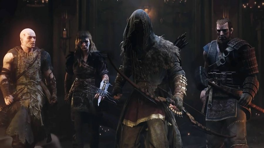 A group of four characters from Hood Outlaws and Legends
