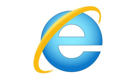 Internet Explorer's blue 'E' logo with an orange flash