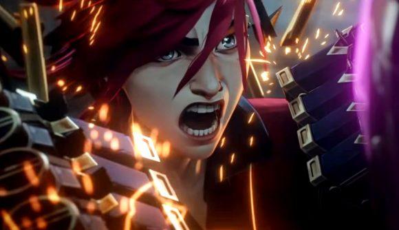 League of Legends champion Vi in an Arcane teaser
