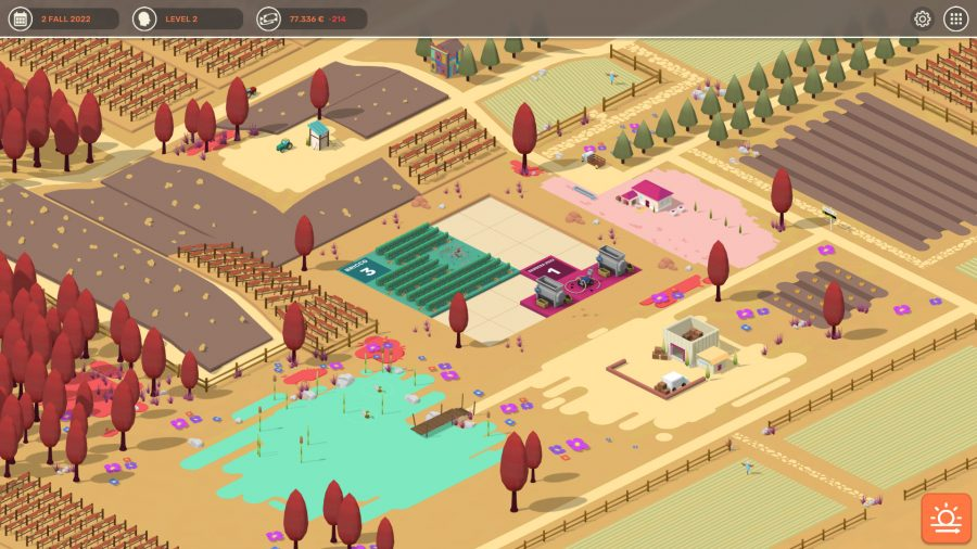 Managing a vineyard in Hundred Days - Winemaking Simulator