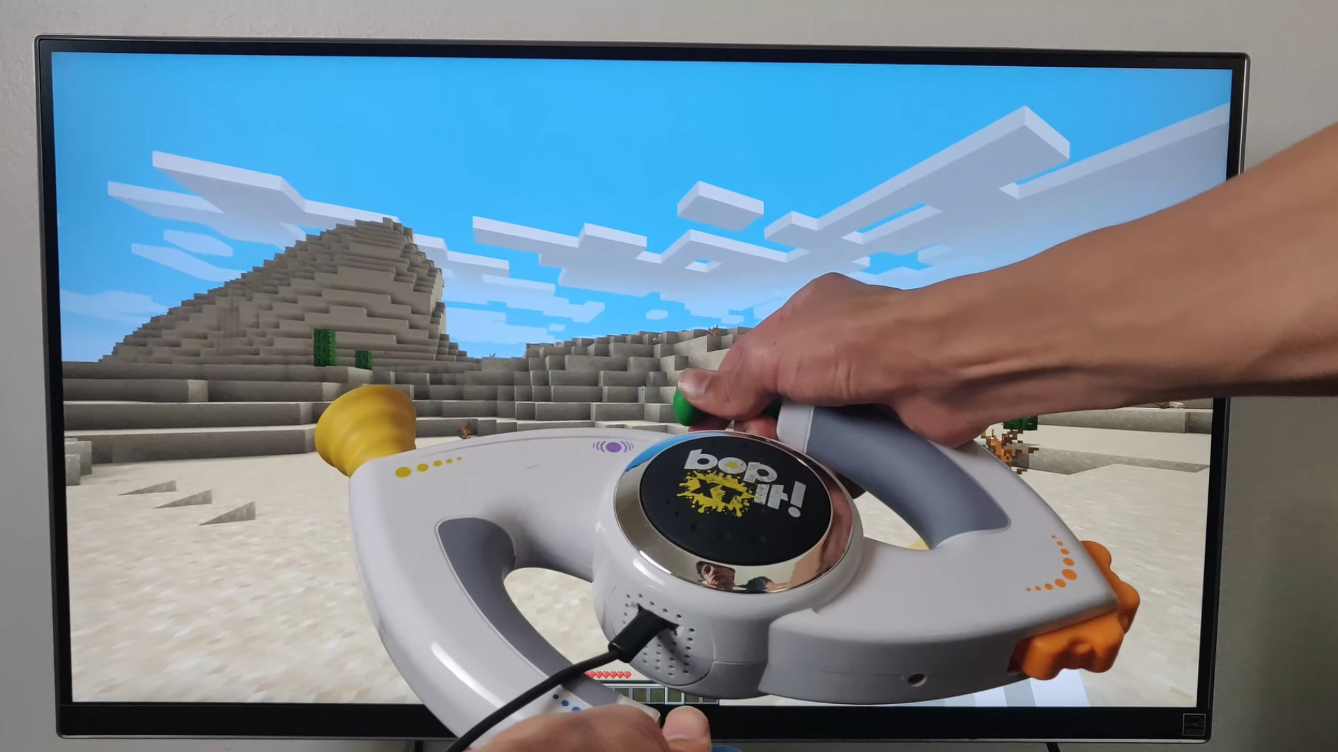 It's time to play Minecraft with a Bop It