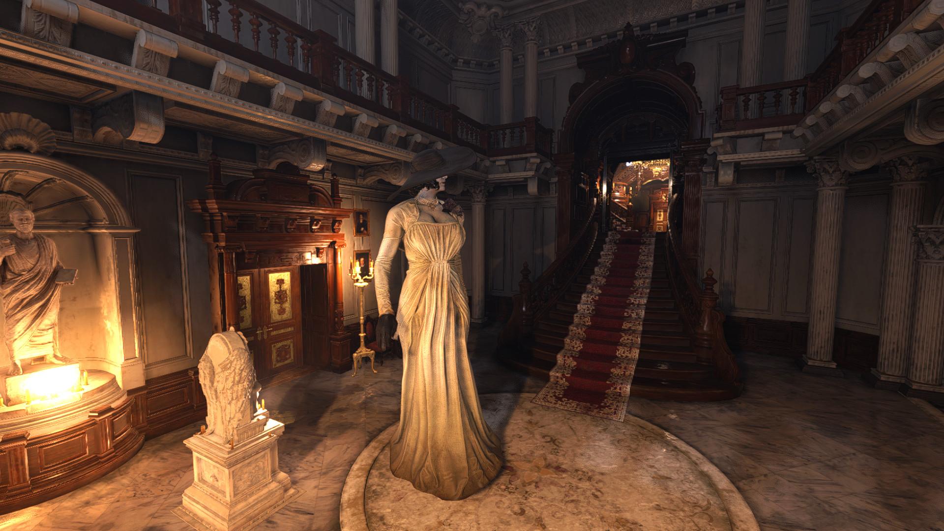 Resident Evil Village modded to make Lady Dimitrescu even taller