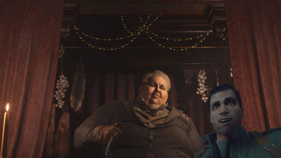 Фотография сделана в фоторежиме в Resident Evil Village, на которой теперь изображено лицо Фрэнка Уэста в качестве рамки с этим модом.