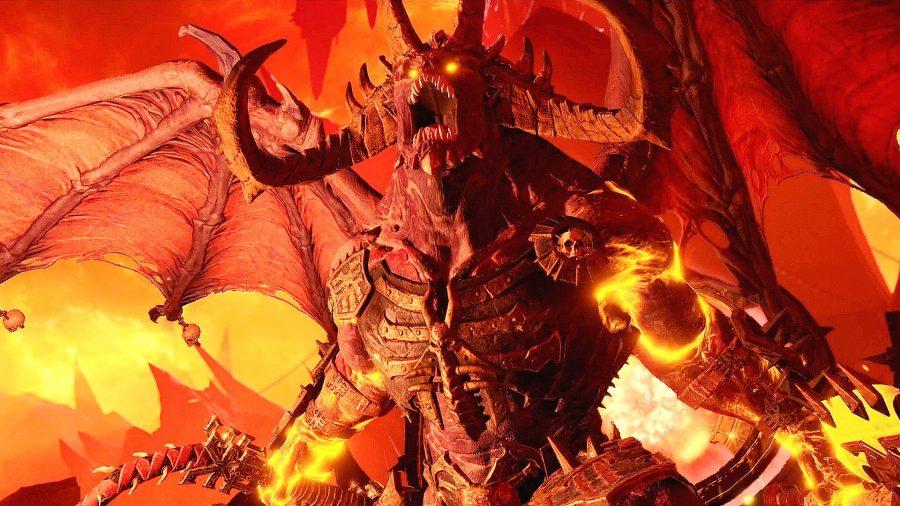 Bloodthirster in Total War: Warhammer III