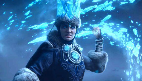 tzarina katarina from the warhammer 3 trailer wield ice magic