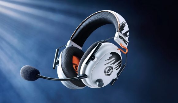Razer's latest BlackShark V2 Pro headset is adorned with Rainbow Six Siege logos