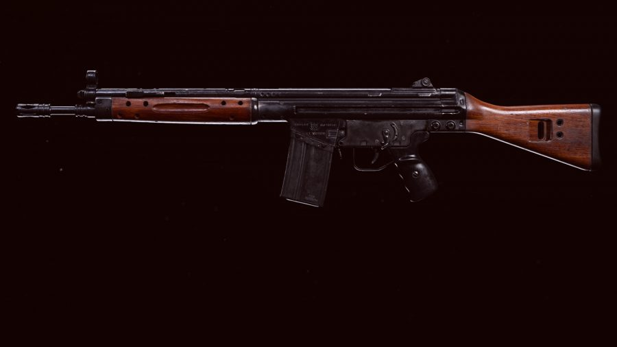 The C58 assault rifle in Call of Duty Warzone's preview menu