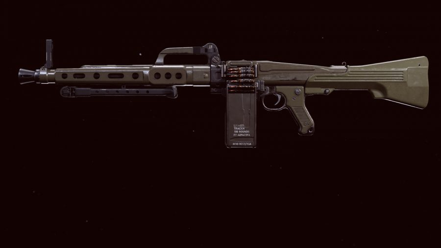 The MG 82 LMG in Call of Duty Warzone's preview menu