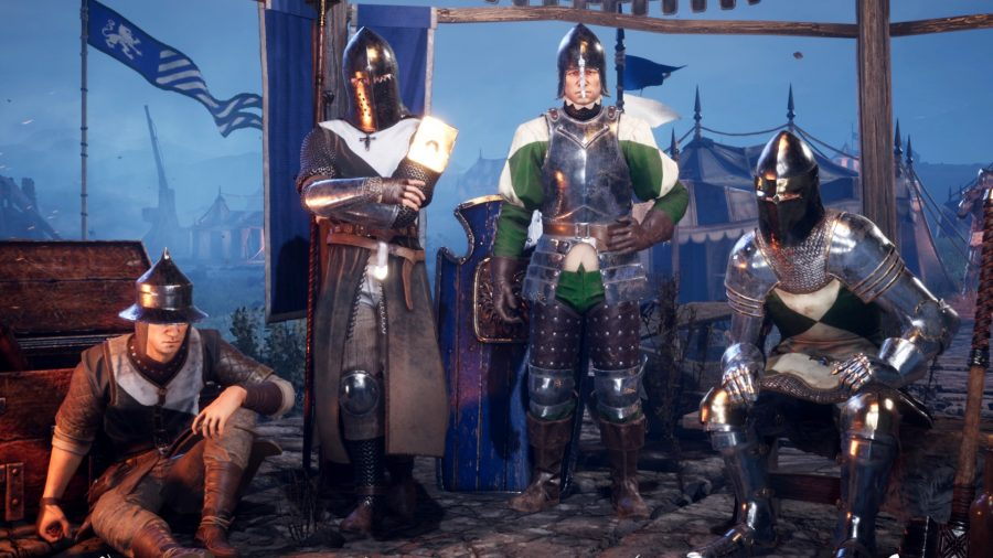 The four Chivalry 2 classes, Archer, Vanguard, Footman, and Knight