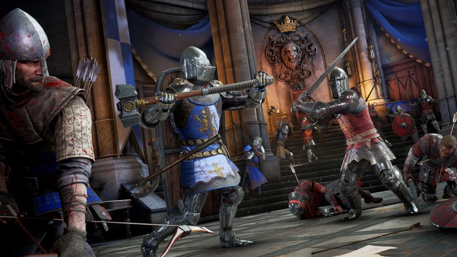 A battle between opposing factions in Chivalry 2