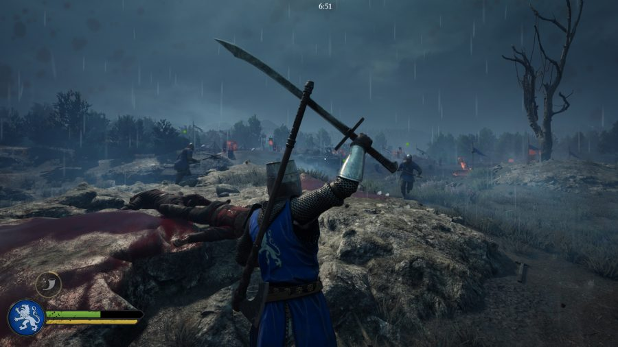 A Knight charges into battle in Chivalry 2