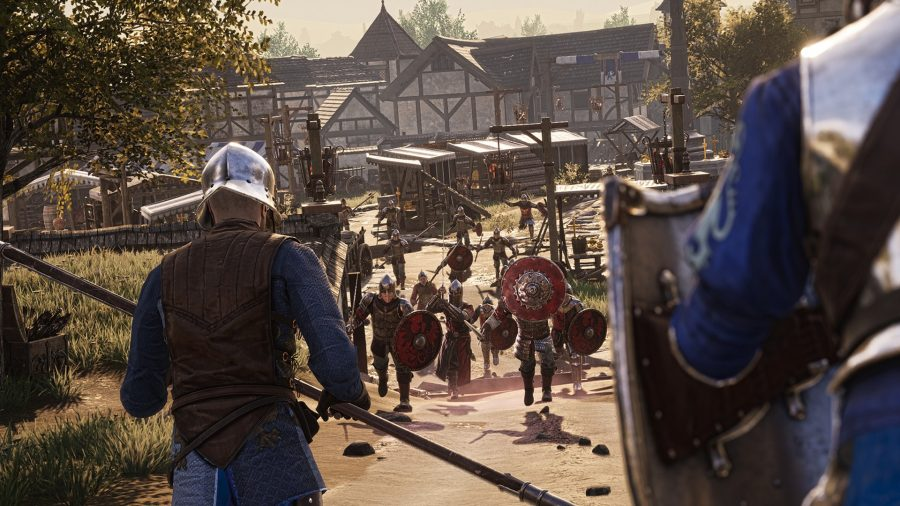 A large group of foes in Chivalry 2