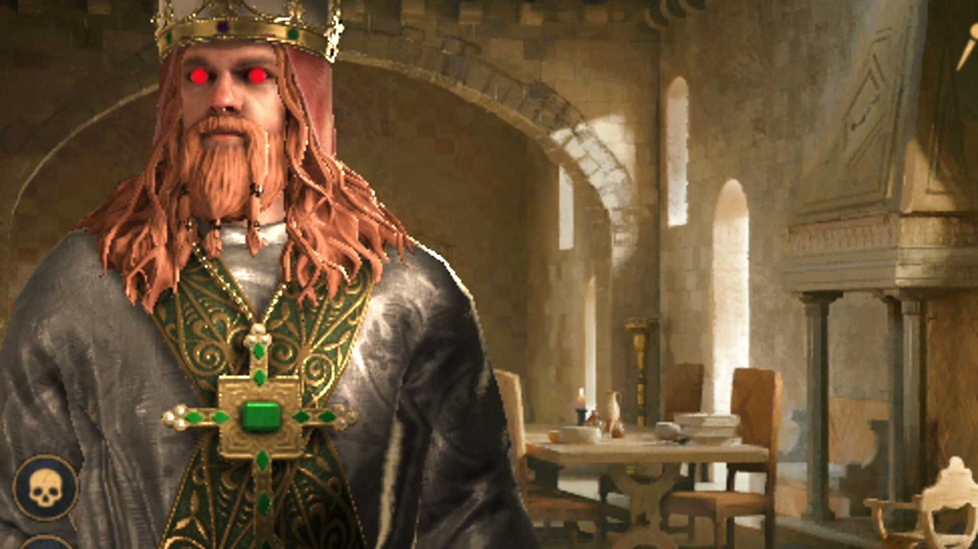 Today in Crusader Kings 3: A giant, sadistic, Viking Pope
