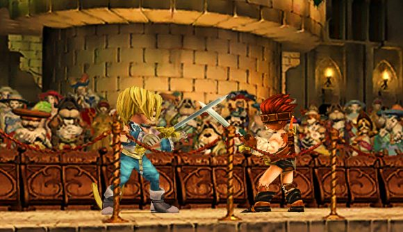 Two characters from Final Fantasy 9 do battle