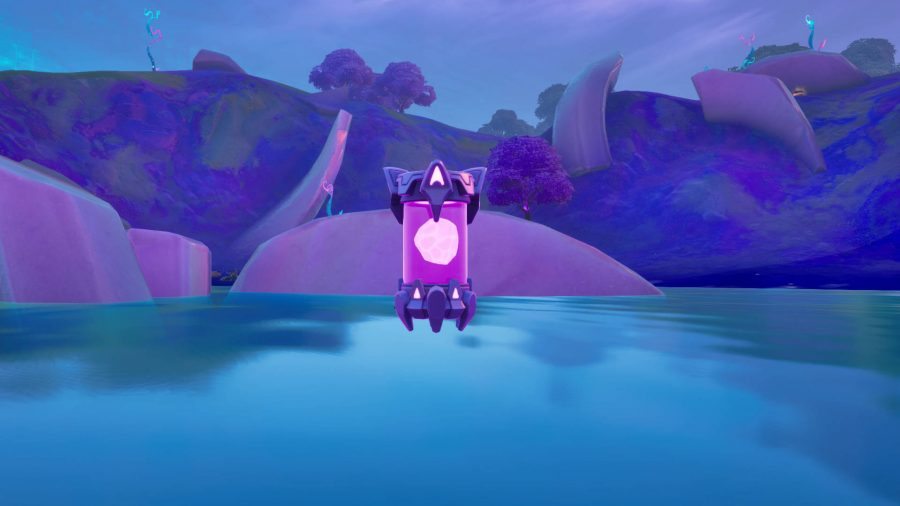 An alien artifact where the Zero Point used to be in Fortnite. It's a purple vial with a brain in it.