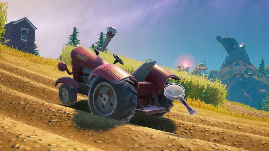 The red tractor in the middle of Farmer Steel's farm in Fortnite