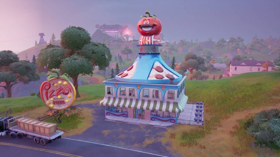 The Pizza Restaurant in Fortnite, one of Farmer Steel's favourite places