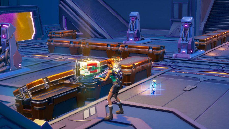 Ontgrendel legendarische kluiskisten, verkregen door de Fortnite Mother-minigame te voltooien met vijf verzamelde kluisbollen.