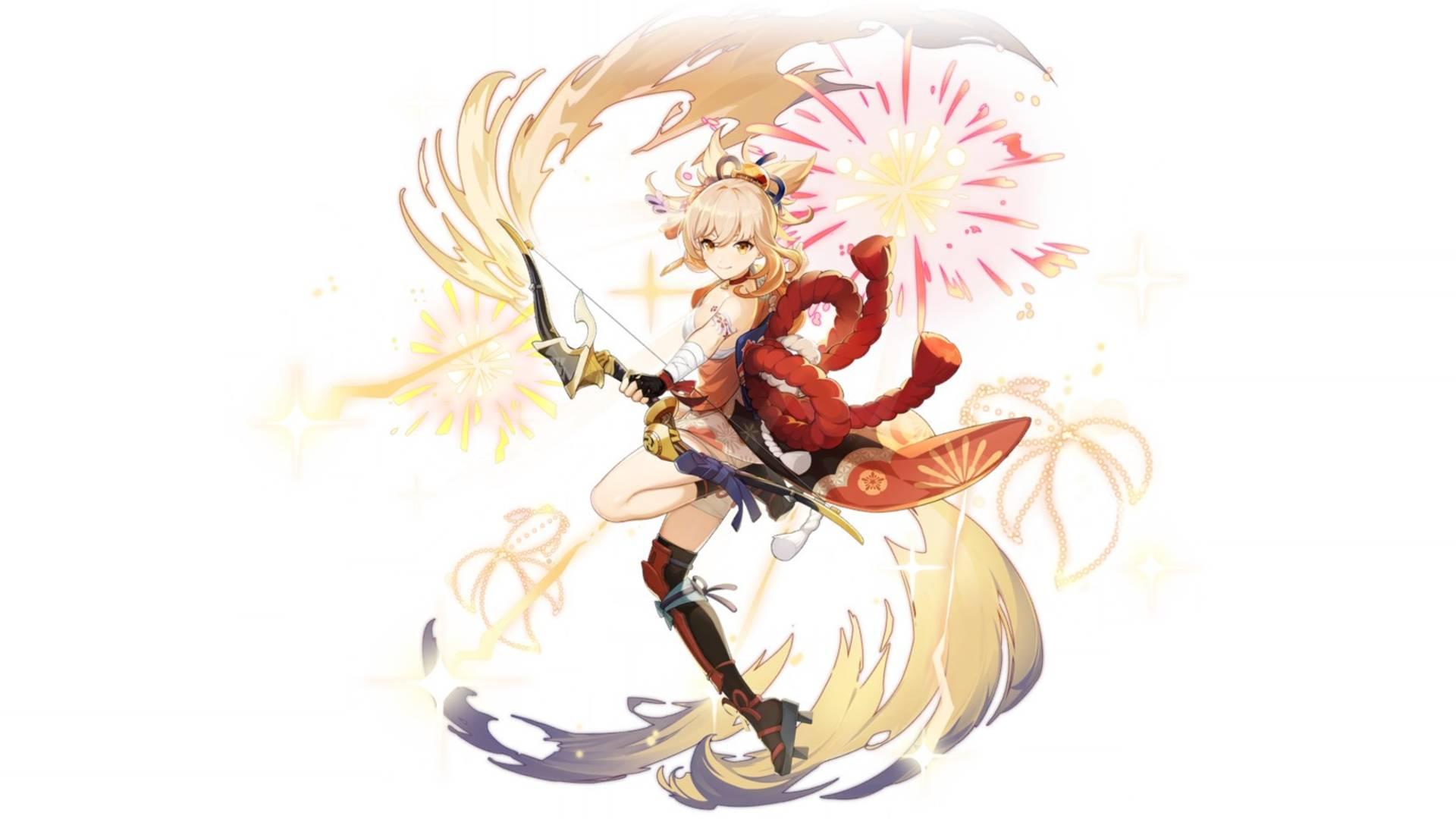 Genshin Impact Yoimiya banner and abilities
