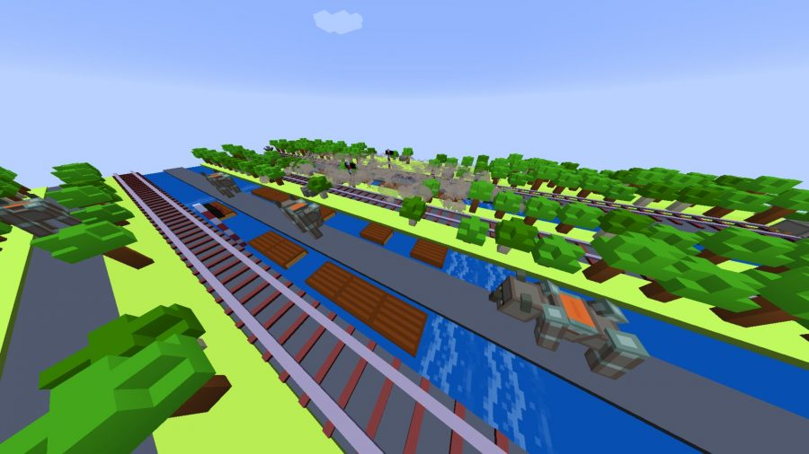 Minecraft custom map - Road Runners
