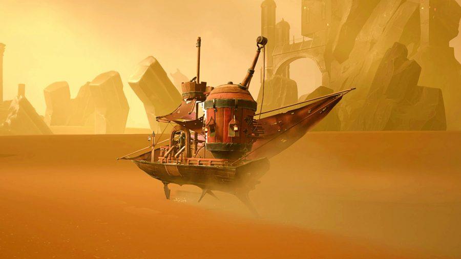 Sand ship on the sand ocean in, er, Sands of Aura