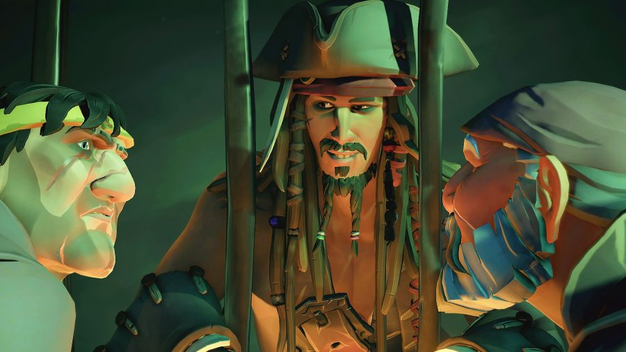 Jack Sparrow breaking free in Sea of Thieves Pirates Life